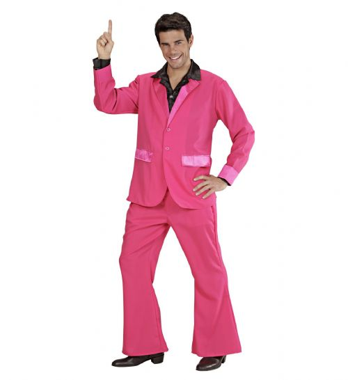 Adults Pink Party Suits Costume 70s Fancy Dress